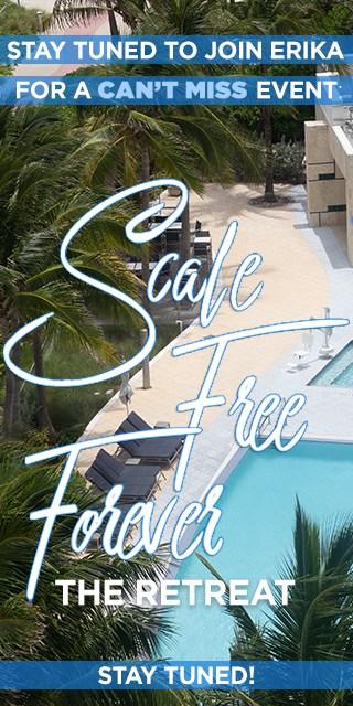 overhead photo of a pool, palm trees, and a cabana